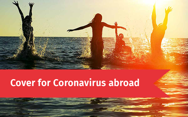 Cover for Coronavirus when travelling abroad